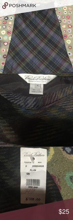 Brooks Brothers classy wool plaid skirt NWT 8 Beautiful and classy Brooks Brothers wool skirt NWT. Looking for a new home Brooks Brothers Skirts A-Line or Full