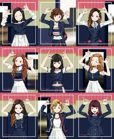 So cute t w i c e em 2019 anime art, kpop fanart e twice fan Kpop Girl Groups, Korean Girl Groups, Kpop Girls, Kpop Fanart, Signal Twice, Twice Fanart, Fandom, Kpop Drawings, Twice Kpop