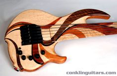 Custom Bass Guitars   Custom 6 String Bass Birdseye Maple, Walnut, Wenge, Bubinga and Cherry ...