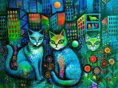 Moonlight Cats by Karin Zeller