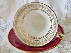 Aynsley Fine English Bone China Teacup and Saucer Corset Shape
