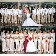 30 Nigerian Weddings We'd Happily Be A Bridesmaid For. Wedding Poses, Wedding Attire, Wedding Dresses, Wedding Ideas, Wedding Hijab, African American Weddings, African Weddings, Bridesmaid Dress Colors, Nigerian Weddings