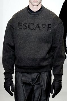 Escape. Men's Fall 2014 Calvin Klein Collection...