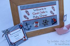Little Sailor Birthday. Printables by ByInvitationOnlyDIY ByInvitationOnlyDIY.etsy.com
