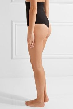 Yummie by Heather Thomson - Lorelai Stretch-jersey Thong - Black - x large