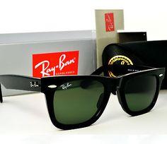 Ray Ban WAYFARER Ray-Ban RB2140 Black & Green-15 lenses 54 mm