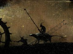 """detail from """"The Garden of Earthly Delights"""" by Hieronymus Bosch {circa.1450-1516}"""