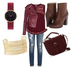 """maroon is the best"" by kybugrocks ❤ liked on Polyvore featuring Tommy Hilfiger, Hollister Co., Frye, Barbour International, Abbott Lyon, IMoshion and Charlotte Russe"
