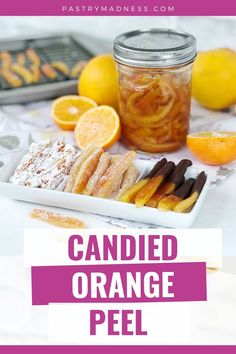 Today I want to show you how to make Candied Peel, in particular – Candied Orange Peel Recipe. Using this method, you can prepare candied peels of any citrus. Candied Peels are delicious on their own, they can also be added to a variety of desserts, baked goods, or used to decorate sweet dishes. Dried Orange Peel, Candied Orange Peel, Candy Recipes, Baking Recipes, How Much Sugar, Cooking For One, Cookie Gifts, Fresh Ginger, Baked Goods