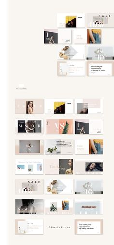 Silhouette Social Media Pack Template #instagram #pinterest #twitter #facebook #template #marketing #business #pitch #booster #kit #layout #simple #minimal #fashion