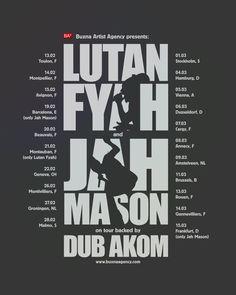 Lutan Fyah and Jah Mason on tour 2014 - Poster