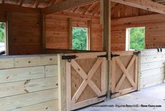 Low Cost 2 Stall Horse Barn Option