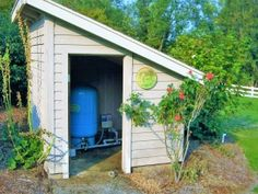 Home Water Well Pump Sales & Troubleshooting - Mather Pump Service Well Pump Cover, Pool Equipment Cover, Well Tank, Pool Shed, Water Storage Tanks, Outdoor Projects, Outdoor Decor, Pump House, Lawn And Landscape