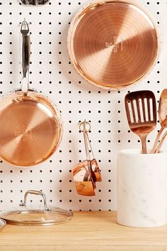 Slide View: 2: Copper Measuring Cups Set