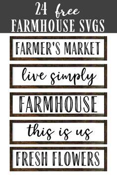 Free Svg Fonts, Free Fonts For Cricut, Cricut Images Free, Free Fonts Download, Farmhouse Font, Farmhouse Signs, Farmhouse Ideas, Cricut Craft Room, Cricut Vinyl