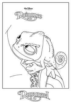 1000 images about coloriage disney raiponce on - Raiponce cameleon ...