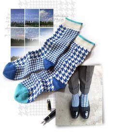 Poulle Sky socks | Light drawer | Oybō: untuned socks for smart feet