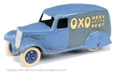 Dinky No.28D Pre-War Delivery Van OXO - 2Nd Type Blue Body