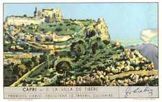 Villa Jovis, built by the Roman Emperor Tiberius, Capri, Italy Capri Italy, History Images, Roman Emperor, Digital Image, Villa, Island, Building, Buildings, Islands