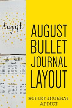 Bullet Journal Yellow Dot Theme - August Bullet Journal Layout With Simple Design - Pretty and Simple Bullet Journal Spreads #monthlyspread #bujo #bujolove #bujomonthly #monthlybujo #bujospreads #bulletjournal #bulletjournalcommunity #bujocommunity #bujoideas #bujoinspiration #bujoinspo Bullet Journal August, Bullet Journal Monthly Spread, Bullet Journal Themes, Bullet Journal Layout, Bullet Journal Inspiration, Bujo Monthly Spread, Weekly Spread, Bulletin Journal Ideas, Doodle Art For Beginners