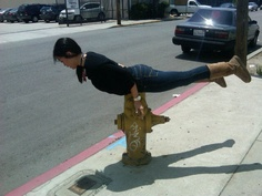 hydrant Planking. can you say ow?