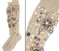 Embellished Knee Socks