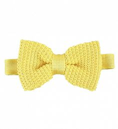 Yellow Knit Silk Bow Tie by Van Gils $115  | Dutch power brand Van Gils has taken the classic bowtie and transformed it into a daytime staple. Elevated by the colour- and luxe fabrication- 100% pure silk, the pieces heightens formal shirt and trouser combinations to ultra chic. | GOTSTYLE.CA