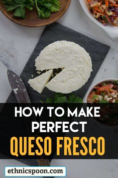 A step by step process that shows how to make perfect queso fresco. It's easy, and makes delicious queso fresco right in your own home. Chef Recipes, Mexican Food Recipes, Cooking Recipes, Healthy Recipes, Ethnic Recipes, How To Make Cheese, Food To Make, Homemade Cheese, Popular Recipes