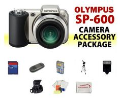 Olympus SP-600UZ Point-n-Shoot Digital Camera ACCESSORY KIT including 8GB SD Memory Card + Memory Card Reader + Extended Life Replacement AA Batteries + Battery Charger + Digital Flash + Soft Carrying Case + Medium Size Tripod + MORE! by Digital. $252.95. THIS ACCESSORY KIT INCLUDES:  Olympus SP-600UZ Point-n-Shoot Digital Camera 8GB SD Memory Card Memory Card Reader Extended Life Replacement AA Batteries Battery Charger Digital Flash Soft Carrying Case Medium Size Tripod S...