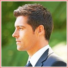Short men wedding hairstyle