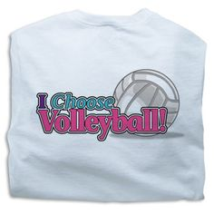 White Tandem My Choice Volleyball T-Shirt at Volleyball.Com