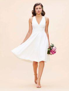 Low Key Wedding Dress, Causal Wedding Dress, Backyard Wedding Dresses, Civil Wedding Dresses, Informal Wedding Dresses, Dress Casual, White Simple Wedding Dress, Wedding Dresses Simple Short, Summer Wedding Dresses