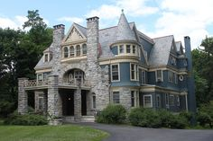 Smith Brothers Mansion.  Poughkeepsie, New York, via Flickr