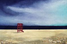 'Stormy Beach' ~ watercolour