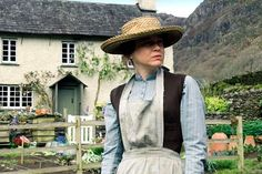 Renee Zellweger as Beatrix Potter in 'Miss Potter' (2006). Hill Top Farm scenes were filmed at this Yew Tree Farm property, also owned by Potter. Coniston, Cumbria, England, UK