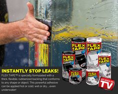 Are you a boater, a plumber, a construction worker or a homeowner doing repairs around the house? Then FLEX TAPE™ has a place in your toolbox.
