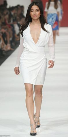 Jessica Gomes in Dion Lee - At the David Jones show @ Virgin Australia Melbourne Fashion Festival.  (March 2014)