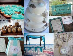 Turquoise & Brown Beach Wedding