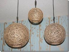 Art Lover Dream: Lampada fatta a mano, realizzata con corda di lino
