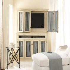 Love this media cabinet from Ballard Designs
