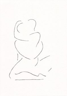 Minimalist black and white lovers drawing. Erotic line art sketch by Siret Roots. Minimalist Drawing, Minimalist Art, Pencil Art Drawings, Easy Drawings, Art Abstrait Ligne, Minimal Drawings, Outline Art, Abstract Line Art, Bedroom Art