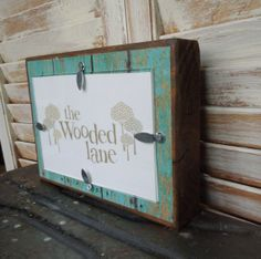 Wooden Frame/turquoise distressed print/4x6 by thewoodedlane, $18.00