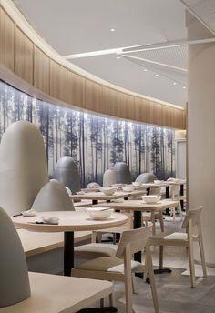 Gallery of KiKi Noodle House / Golucci Interior Architects - 4 Hotel Room Design, Restaurant Interior Design, Noodle House, Coffee Shop Design, Cafe Design, Design Design, Design Ideas, Restaurant Lighting, Restaurant Restaurant