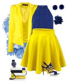 Hello!!! Yellow!! by ajones-v on Polyvore featuring polyvore, fashion, style, Dorothy Perkins, Alexandre Vauthier, Aperlaï, Marni, CARAT*, Erika Cavallini Semi-Couture and Marc by Marc Jacobs