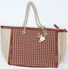 Handbags borsa shopping orizontal LIU JO eco pelle e tessuto intrecciato 8bee098f5e9