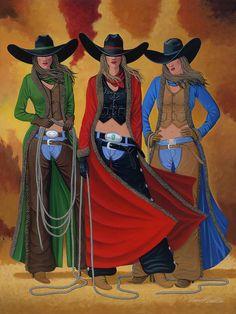 53b1882c17fe7 Cowgirl Up Art Print by Lance Headlee