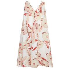 Muchacha White Rabbit Print Dress