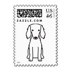 Saluki Dog Cartoon Postage Stamp