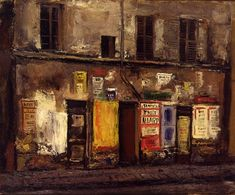 OHASHI, Ryokai : Posters on an Old Building (1929) oil on canvas 60.6×73.3 The National Museum of Modern Art, Tokyo