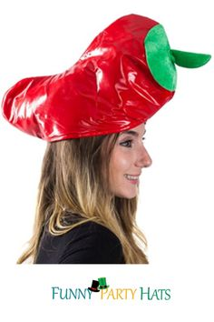 """• This Red Pepper Hat Adds an Extra Kick to Your Halloween and Cinco De Mayo Celebrations • Great for a Chili Cook-off or Southwestern BBQ This Cayenne Pepper is a Hot Hat to Handle • A Fun Plush Novelty Party Hat for Any Occasion Fits Most Teens and Adults, Size 24.5"""" Circumference Costume Hats, Cool Costumes, Party Costumes, Party Favors For Adults, Novelty Hats, Crazy Hats, Holiday Costumes, Pirate Hats, Cook Off"""